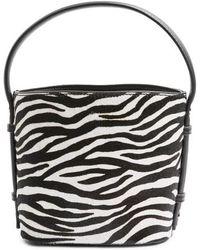 TOPSHOP - Samira Calf Hair Bucket Bag - Lyst