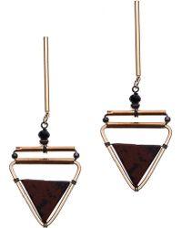 Nakamol - Stick Triangle Drop Earrings - Lyst