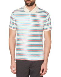 Original Penguin - Stripe Polo - Lyst