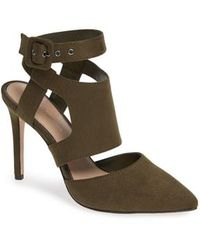 BCBGMAXAZRIA - Heather Pointy Toe Ankle Strap Pump - Lyst