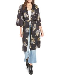 Amuse Society - Let's Unwind Floral Print Kimono - Lyst