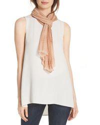 Eileen Fisher - Tie Dye Crinkle Silk Scarf - Lyst