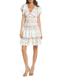 Bronx and Banco - Beverly Lace Fit & Flare Dress - Lyst