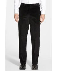 Berle - Flat Front Corduroy Trousers - Lyst