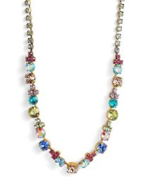Sorrelli - Limonium Crystal Necklace - Lyst