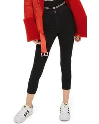 TOPSHOP | Joni High Waist Crop Skinny Jeans | Lyst