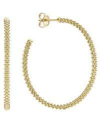 Lagos - 'caviar Gold' Hoop Earrings - Lyst
