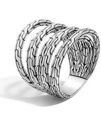 John Hardy - 'classic Chain' Multi-row Ring - Lyst