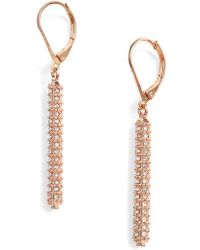 Vince Camuto - Pave Bar Earrings - Lyst