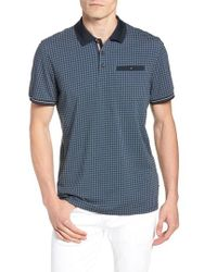Ted Baker - Pezze Slim Fit Geo Print Polo - Lyst
