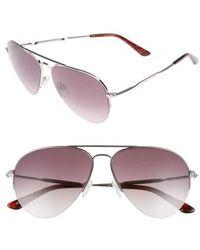 Balenciaga | 58mm Aviator Sunglasses - Palladium/ Gradient Burgundy | Lyst