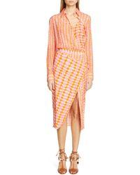 Altuzarra - Constantina Checked Silk Dress - Lyst
