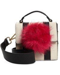 Jules Kae - Mel Faux Fur Pompom Crossbody Bag - - Lyst