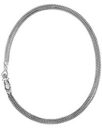John Hardy - Sterling Silver Legends Naga Triple Chain Necklace With Sapphire Eyes - Lyst