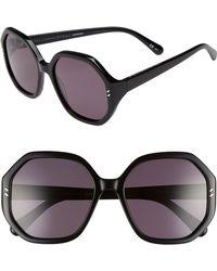Stella McCartney - 56mm Hexagonal Sunglasses - Lyst