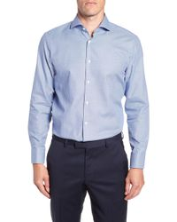 BOSS - Sharp Fit Mark Micro Grid Dress Shirt - Lyst