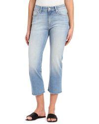 Mavi Jeans - Mavi Niki Frayed Hem Crop Jeans - Lyst