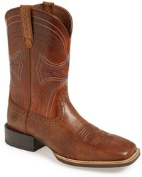 Ariat - 'sport' Leather Cowboy Boot - Lyst