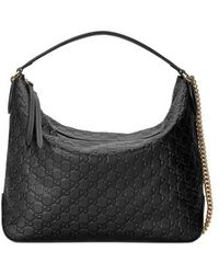 Gucci - Medium Padlock Leather Hobo - Lyst