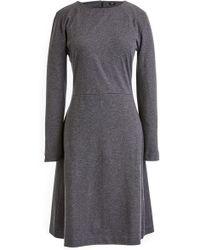 dbbb24c0 J.Crew Angie Dress In Pinstripe Super 120s Wool in Gray - Lyst