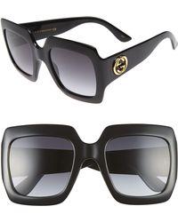 a6171d16ba Lyst - Gucci 57mm Square Sunglasses in Gray