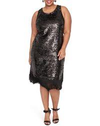 435599cef9 Lyst - RACHEL Rachel Roy Printed Ruched Asymmetrical-hem Dress in Black