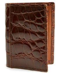 Martin Dingman - 'joseph' Genuine American Alligator Leather Id Wallet - Metallic - Lyst
