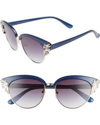 Glance Eyewear - 58mm Embellished Cat Eye Sunglasses - Lyst