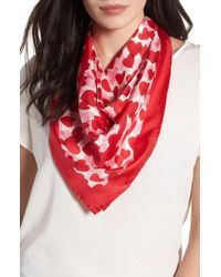 Kate Spade | Heart Party Silk Square Scarf | Lyst