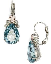 Sorrelli - Embellished Pear Crystal Drop Earrings - Lyst