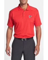 Cutter & Buck - 'atlanta Falcons - Genre' Drytec Moisture Wicking Polo - Lyst