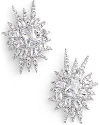 CZ by Kenneth Jay Lane - 'explosion' Cubic Zirconia Stud Earrings - Lyst