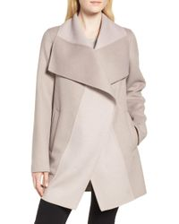 Tahari - Nicky Double Face Wool Blend Oversize Coat - Lyst