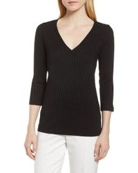 BOSS - Etrica Ribbed Sweater - Lyst