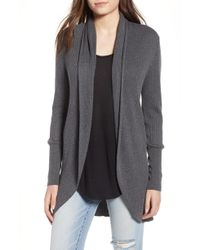 Leith - Ribbed Shawl Cocoon Sweater - Lyst