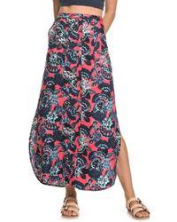 Roxy - Sunset Islands Floral Print Maxi Skirt - Lyst