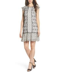 Adrianna Papell - Lace Shift Dress - Lyst