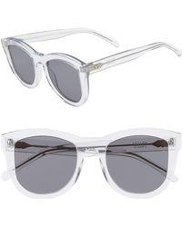 28f53225fd39 Lyst - Valley Eyewear Scapula Sunglasses - Gloss Black Gradient in Black