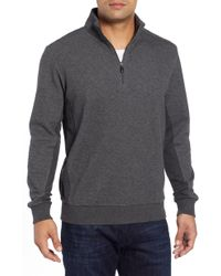 Bugatchi - Quarter Zip Knit Sweater - Lyst