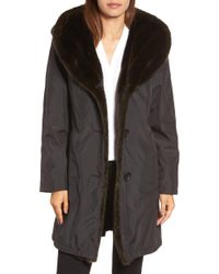Gallery - Storm Coat With Faux Fur Trim & Lining - Lyst