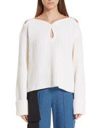 Hellessy - Keyhole Shoulder Merino Wool Sweater - Lyst