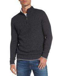 Jeremy Argyle Nyc - Wool Blend Quarter Zip Sweater - Lyst