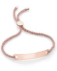 Monica Vinader | Linear Diamond Toggle Chain Bracelet | Lyst
