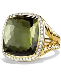 David Yurman - 'albion' Ring With Citrine And Diamonds In Gold - Lyst