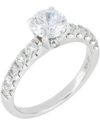 Bony Levy - Pavé Diamond Round Solitaire Engagement Ring Setting (nordstrom Exclusive) - Lyst