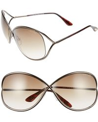 Tom Ford - Miranda 68mm Open Temple OverBronze - Lyst