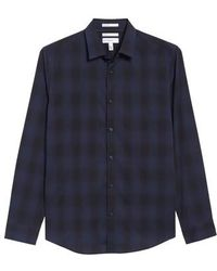 Calibrate | Trim Fit Plaid Sport Shirt | Lyst