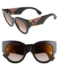 Fendi - 51mm Cat Eye Sunglasses - - Lyst
