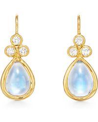 Temple St. Clair - Temple St. Clair Pear Moonstone & Diamond Drop Earrings - Lyst