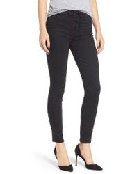 Mother - The Looker Lace-up High Waist Skinny Jeans - Lyst